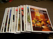 13962 Architectural Digest Magazine 11 issues 2010