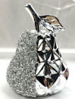 Large Silver Pear Sparkle Bling Ornament Crushed Diamond,home Decor💎