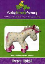 Horse/ Unicorn (Horsey) Soft Toy Pattern Funky Friends Factory Machine / Handsew