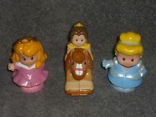 Fisher Price Little People Princess Lot: Cinderella, Klip Klop Belle, Aurora