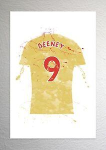Troy Deeney - Watford Football Shirt Art - Splash Effect - A4 Size