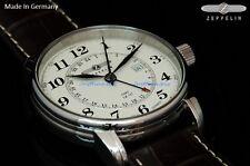 New Graf Zeppelin Swiss Made Ronda 505.24 GMT Dual Time Watch 7642-5 German Made