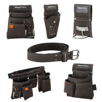 WrightFits Leather Tool Belt Apron -Nail & Tool Pouches -Drill & Hammer Holsters