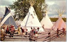 PORTLAND, OR  OREGON CENTENNIAL EXPO  Indian Village  1959  Postcard