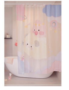 [KAKAO Friends] Lovely Peach Shower curtain  180*180*28cm, 400g