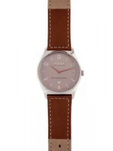Mens Wristwatch ALV By Alviero Martini ALV0073 Leather Brown NEW