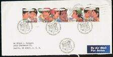 Mayfairstamps SINGAPORE FDC 1993 COVER GREETINGS STRIP OF 5 wwk40905