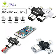 4 in 1 Type C Memory Card Reader USB 3.1 OTG Micro SD Adapter for iPhone iPad