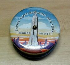 VINTAGE EMPIRE STATE BUILDING ADVERTISEMENT TAPE MEASURE MADE IN USA