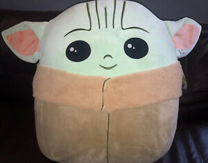 "Star Wars The Child Baby Yoda Squishmallows Mandalorian Plush 20"" XL Jumbo New"
