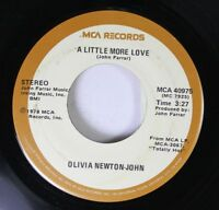 Pop 45 Olivia Newton-John - A Little More Love / Borrowed Time On Mca Records