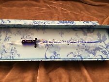Marranos Glass,Made in ITALY,Calligraphy Pen,ART GLASS in box !!!