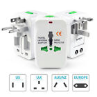 US to EU Europe and Universal AC Power Plug World Travel Adapter Converter