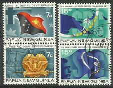 PAPUA NEW GUINEA 1972 CONSTITUTION & SOUTH PACIFIC COMMISSION 4v Fine Used