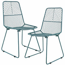 [en.casa] 2x design chaises métal turquoise chaise set Fauteuil Chaise en métal