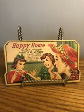 Vintage Happy Home Rust Proof Needle Book Japan Contents Nice