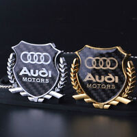 1x 3D Car Side Metal Badge Emblem Decal Sticker Fit  For Audi Car