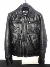 Schott cowhide leather jacket LC8102 with removable hood