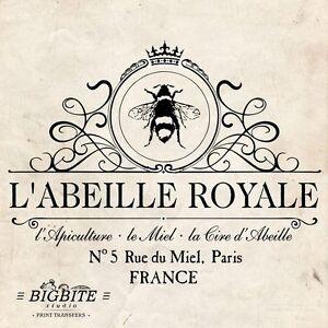 WATER DECAL: French Beekeeper Vintage Bee Advert (Furniture Print Transfer) #029