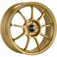 OZ RACING ALLEGGERITA HLT 5F RACE GOLD ALLOY WHEEL 17X8 ET48 5X100