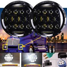 2x LED Headlights For Kenworth T2000 T-2000 1998-2010 Semi-Truck Trailer Lamp