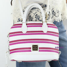 NWT Dooney & Bourke Small Bitsy Crossbody Bag Purse FM22A White Pink Stripes NEW