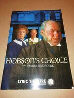 LYRIC THEATRE * HOBSON'S CHOICE * THEATRE PROGRAMME 1995 W/ TICKET STUBS