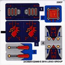 LEGO NEXO KNIGHTS Macy's Thunder Mace STICKER SHEET ~ Replacement for Set 70319