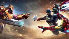 Avengers Endgame Captain America  Iron Man  Silk Poster 24 X 14 inch Wallpaper