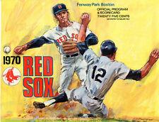 BOSTON RED SOX OFFICIAL PROGRAM & SCORECARD 1970