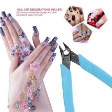 1Pc Blue Micro Shear Flush Cutter Nail Art Rhinestone Gems Bead Remover Tool