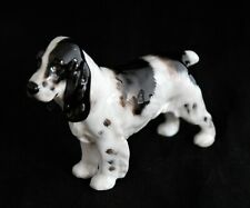 Royal Doulton Dog Cocker Spaniel Figurine Model No Hn 1078 White Black