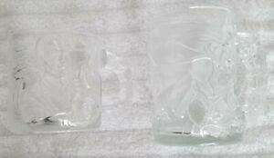 BATMAN FOREVER SET OF TWO McDONALD'S GLASS COFFEE MUGS BATMAN & TWO-FACE