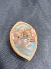 Vintage Pendelfin Stone Craft Mice in Nutshell collectible