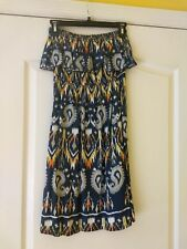 d'closet Women's Strapless Dress, size m blue rayon