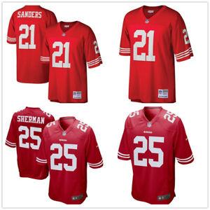 Herren NFL Sanders Sherman #21 #25 San Francisco 49ers American Fußball Genäht