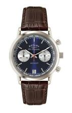Rotary Les Originales Stainless Steel Brown Leather Mens GS90130/05 RRP £395