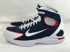 Nike Air Zoom Huarache 2K4 USA UCONN Red Navy White 308475-400 Msrp $150 - SZ 10