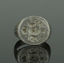 ANCIENT MEDIEVAL HERALDIC SILVER RING - CIRCA 15th/16th Century AD