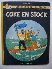 HERGE TINTIN COKE EN STOCK 1958 CASTERMAN B25 IMPRESSION BELGE BEL EXEMPLAIRE