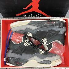 e93f02334d6485 Nike Air Jordan Retro IV Fear Cool Grey Oreo SZ 9.5 626969 030 Bred XI XII