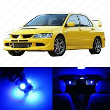 7 x Blue LED Interior Lights Package For 2003 - 2006 Lancer Evolution Evo 8 9