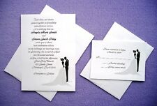 100 Personalized Custom Bride and Groom Bridal Wedding Invitations Set