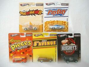 5 HOT WHEELS HERSHEY CANDY SERIES w/ REESES VW MICRO BUS Pop Culture Series