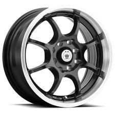 "Konig 26MB Lightning 14x6 4x100/4x4.5"" +38mm Gloss Black Wheel Rim 14"" Inch"