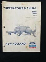 New Holland Operator's Manual Baler 2000 *1019