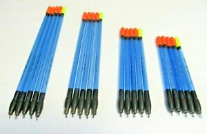 PRESTON STRAIGHT DURA WAGGLERS FIXED LOADING SET OF 5 MIXED COLOURS CHOOSE SIZES