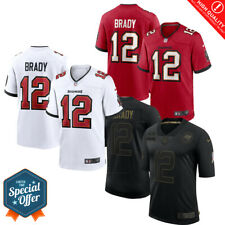 Men's Tampa Bay Buccaneers Tom Brady #12 Red/White/Black Stitched Jersey