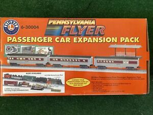 Lionel 6-30004 Pennsylvania Flyer Passenger Car Expansion Pack O Gauge