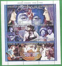 John Lennon Scarrab Africa Commemorative Souvenir Stamp Sheet Chad E39A